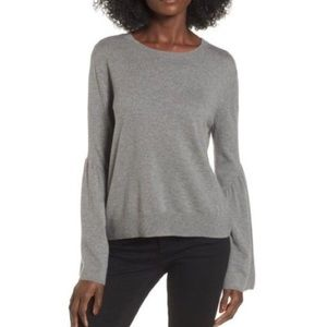Leith gray bell sleeve sweater